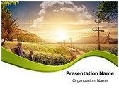 Village Farm PowerPoint Template, TheTemplateWizard