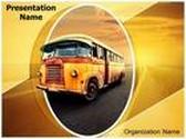 Vintage Van PowerPoint Template, TheTemplateWizard
