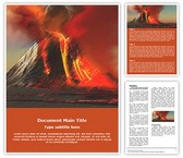 Volcano Free Word Template, TheTemplateWizard