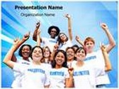 Volunteers PowerPoint Template background with 6 PPT slides