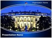 Washington White House PowerPoint Template, TheTemplateWizard