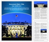 Washington White House Word Template, TheTemplateWizard