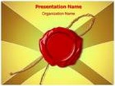 Wax Seal PowerPoint Template, TheTemplateWizard