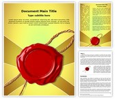 Wax Seal Word Template, TheTemplateWizard