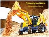 Wheel Loader Excavator PowerPoint Template, TheTemplateWizard