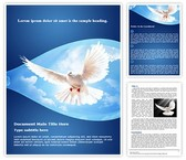 White Dove Word Template, TheTemplateWizard