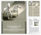 White Horses Word Template, TheTemplateWizard