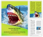 White Shark Teeth Word Template, TheTemplateWizard