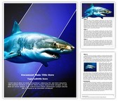 White Shark Word Template, TheTemplateWizard