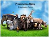 Wild Animals PowerPoint Template, TheTemplateWizard