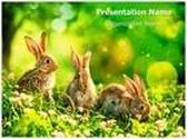 Wildlife Easter Bunny PowerPoint Template, TheTemplateWizard