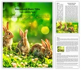 Wildlife Easter Bunny Word Template, TheTemplateWizard