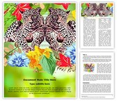 Wildlife Safari Jungle Leopard Word Template, TheTemplateWizard