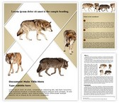 Wildlife Wolf Word Template, TheTemplateWizard