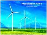 Wind Turbine PowerPoint Template, TheTemplateWizard