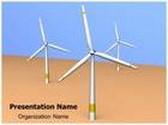 Wind Turbine Technology PowerPoint Template, TheTemplateWizard