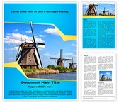Windmill Word Template, TheTemplateWizard