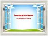 Window PowerPoint Template, TheTemplateWizard