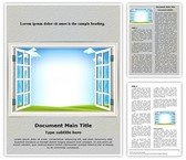 Window Template Combo Offer PPT 6 Slides and Word 3 Pages, thetemplatewizard