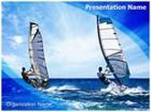 Windsurfing PowerPoint Template, TheTemplateWizard