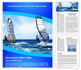Windsurfing Word Template, TheTemplateWizard