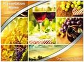 Wine Montage PowerPoint Template, TheTemplateWizard