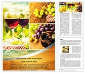 Wine Montage Word Template, TheTemplateWizard