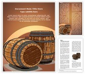 Winery Wine Barrel Template Combo Offer PPT 6 Slides and Word 3 Pages, thetemplatewizard