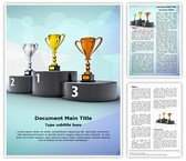 Winners Podium Trophies Word Template, TheTemplateWizard