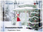 Winter Christmas Background PowerPoint Template, TheTemplateWizard