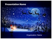 Winter Christmas Eve PowerPoint Template, TheTemplateWizard