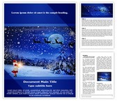 Winter Christmas Eve Word Template, TheTemplateWizard
