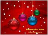 Winter Holiday Christmas Balls PowerPoint Template, TheTemplateWizard