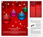 Winter Holiday Christmas Balls Word Template, TheTemplateWizard