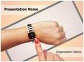 Woman Wrist Watch PowerPoint Template, TheTemplateWizard