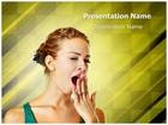 Woman Yawning PowerPoint Template, TheTemplateWizard