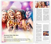 Women Drink Party Word Template, TheTemplateWizard