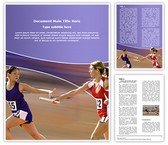 Women Relay Race Word Template, TheTemplateWizard