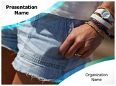 Women Shorts PowerPoint Template, TheTemplateWizard