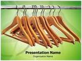 Wood Hanger PowerPoint Template, TheTemplateWizard