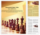 Wooden Chess Word Template, TheTemplateWizard
