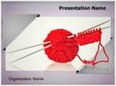 Woolen Clothes Knitting Spokes PowerPoint Template, TheTemplateWizard