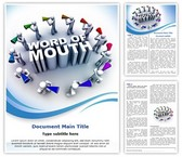 Word Of Mouth Word Template, TheTemplateWizard