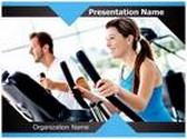 Work Out At Gym PowerPoint Template, TheTemplateWizard