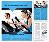 Work Out At Gym Word Template, TheTemplateWizard