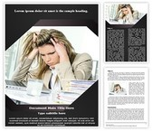Workplace Stress Word Template, TheTemplateWizard