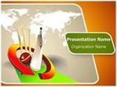 World Cricket PowerPoint Template, TheTemplateWizard