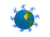 Worldwide Social Network Clipart Image, TheTemplateWizard