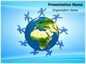 Worldwide Social Network PowerPoint Template, TheTemplateWizard