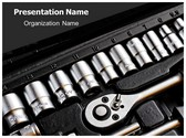 Wrenches Tool Box PowerPoint Template, TheTemplateWizard